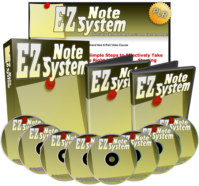 EZ Note System - Effectively Take Notes And Retain The Right Information!